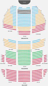 Oakdale Theater Seating Map Boston Opera House Seating