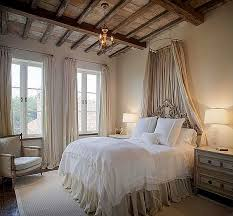 View in gallery Elegant and rustic bed with a circle canopy