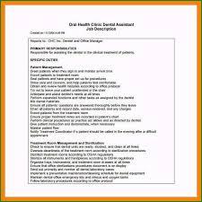Dental Assistant Job Description For Resume Very Best Lead