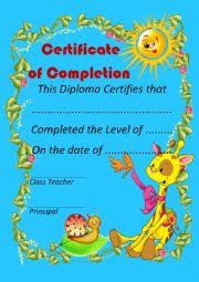 certificates of completion for kids english worksheets certificate of completion