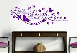Wall Sticker Quotes Mesmerizing Live Every Moment Wonderful Wall Decal Quote