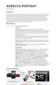 Writer Resume Beauteous WriterEditor Resume Samples VisualCV Resume Samples Database