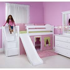 white bunk bed with stairs. Simple Bed Loft Bed With Stairs And Slide Throughout White Bunk With