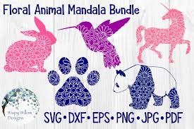 ✓ free for commercial use ✓ high quality images. Floral Animal Mandala Bundle Rabbit Graphic By Wispywillowdesigns Creative Fabrica Mandala Svg Mandala Svg