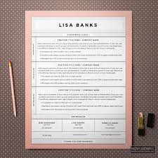 Cover Letter Design Resume Templates Cv Template Modern Chic