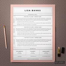 Modern Cover Letter Cover letter design resume templates cv template modern chic 1