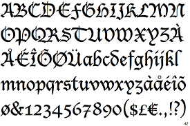 Fraktur handwriting