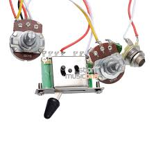 aliexpress com buy 3 pickup guitar wiring harness prewired aliexpress com buy 3 pickup guitar wiring harness prewired a500k b500k big pots 5 way switch 1 volume 1 tone from reliable guitar wiring harness