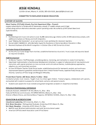 Music Education Resume Examples Music Teacher Resume Examples Sample Cv For Teachers In Word Format 8