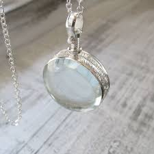 sterling silver glass locket necklace