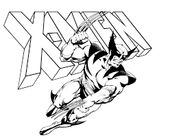 Small Picture Gallery Of Wolverine Coloring Pages For Kids LineArt Wolverine