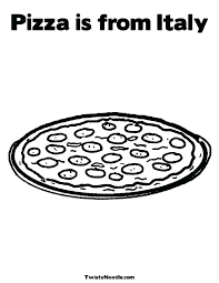 Pizza Restaurant Coloring Pages Food Coloring Pages Flag Page Of