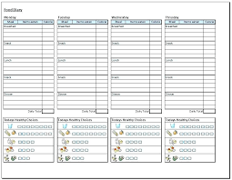 Simple Food Diary Templates Log Examples Free Online