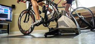 cyclist riding an indoor trainer