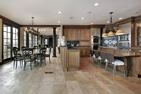 kitchen with tile floors 4a