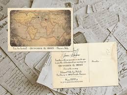 Photo Invitation Postcards 50 Wedding Invitation Postcards Destination Vintage Rustic
