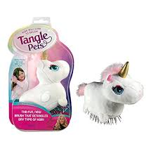 tangle pets sparkles the unicorn the detangling brush in a plush great for any
