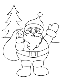 Small Picture Santa Christmas Coloring Pages Printable Christmas Coloring