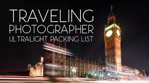 list for traveling traveling photographer one bag ultralight minimalist packing list