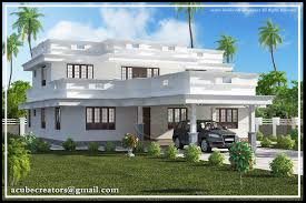 Kerala Flat Roof House Design Flat Roof Home Design Plan Acube Builders House Plans 72906
