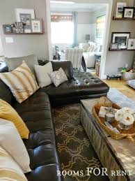 full size of brown leather sofa rugs that go with couch how to style dark den