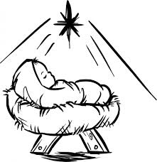 Baby Jesus Manger Scene Coloring Page
