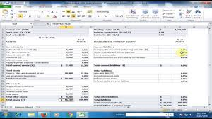Excel Financial Statement Financial Statement Balance Sheet In Microsoft Excel Excel Tips And Tricks