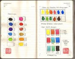 Copic Chart Color Chart On Moleskine Acrylic Water Colors Copic Mark
