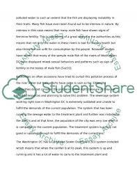 water pollution in washington dc essay example topics and well  water pollution in washington dc essay example