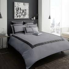 victoria signature luxury duvet cover set designer bedding grey white