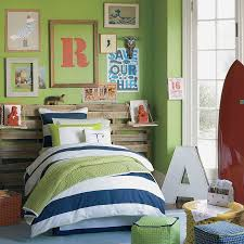 bedroom mint green wall scheme in toddler boys bedroom paint ideas with strip bed linen and pillows plus old wooden storage plus cool artworks ft seating