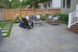 maintenance free deck bluestone patio natural stone fire pit