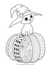 Click on halloween coloring pictures below for the printable halloween coloring page. Halloween Coloring Pages Free Printable Pdf From Primarygames