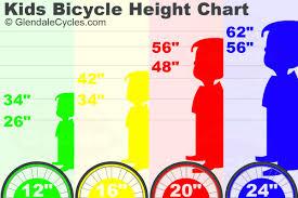 Bike Size Chart Age Kids Bikes