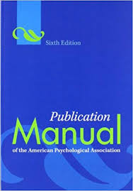 Amazon Com Publication Manual Of The American Psychological