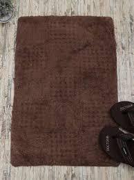 rangrage brown solid anti skid bath rug