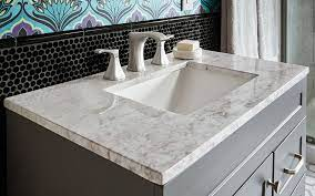 A Gray And White Marble Bath Vanity Top Choosing A Bathroom Vanity Granite Bathroom Bathroom Vanity Countertops Granite Bathroom Countertops