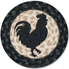 round rooster rug rooster silhouette printed round swatch from granny rug rooster rug sets