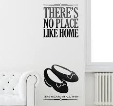 no place like home wall sticker