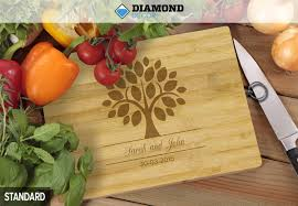 personalised bamboo chopping board incl nationwide delivery option for a premium personalised chopping board 50 templates available