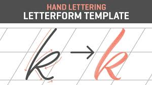 Lettering Templates Hand Lettering Tutorial For Beginners Letterform Template Free