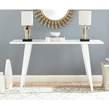 white lacquer console. Delighful Lacquer Safavieh Home Collection Manny MidCentury White Lacquer Console Table For