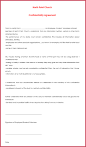 Church Confidentiality Agreement - 10+ Best Samples, Form & Templates
