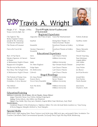 Lovely Actor S Resume Format Personal Leave