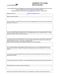 Consent To Lease Application Form