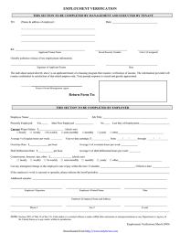 Free Employment Verification Form Template Employee Verification Form Howtheygotthereus 45