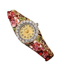 <b>LVPAI Luxury Watch Women</b> Gold Fashion Flower Women's Crystal ...