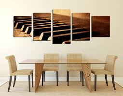 piece large canvas panoramic artwork art prints dining room wall decor piano brown tures multi panel al wallpaper mirror kitchen table ideas