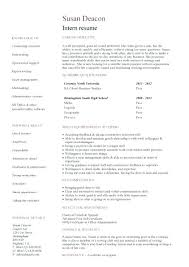 Resume Internship Template Resume Internship Template Word