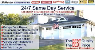 experts in garage door repair